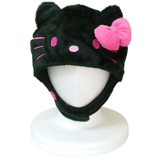 サザック キティ 着ぐるみ きぐるみキャップ 帽子 ブラック SAN-895 画像1