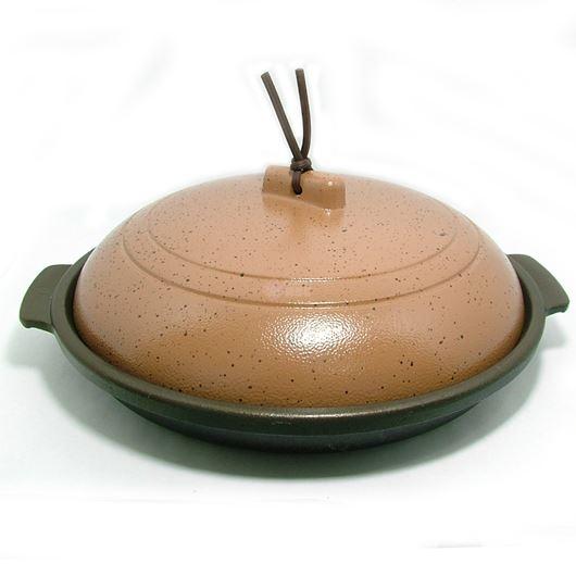 ニチネン 固形燃料コンロ用 一人鍋 深型陶板鍋 画像1