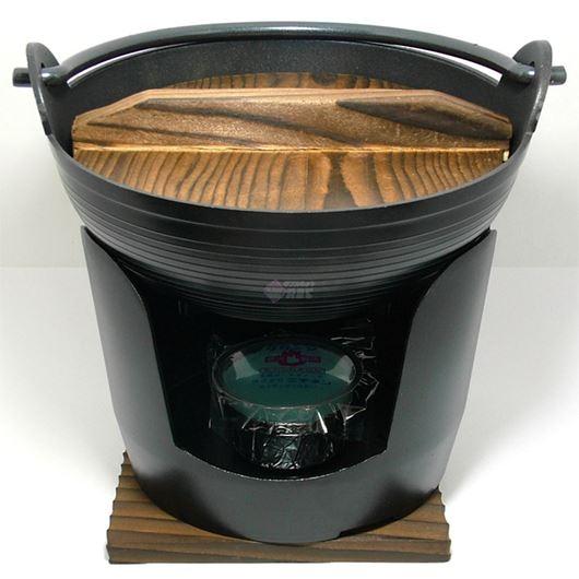 ニチネン 固形燃料コンロ用 一人鍋セット 15cm丸鍋全部セット 画像1