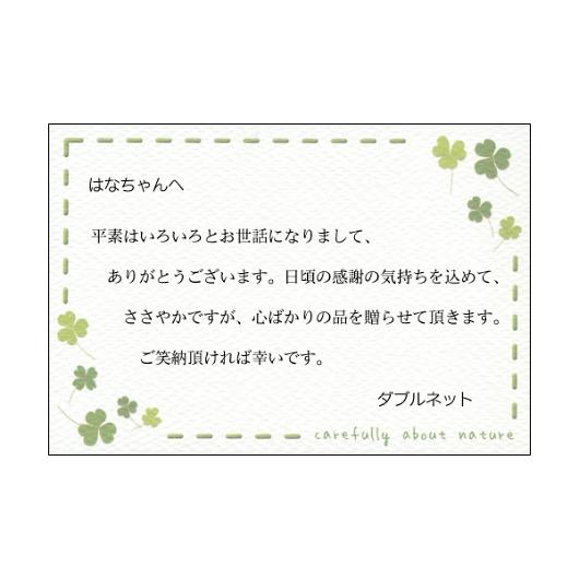 挨拶状 メッセージカード グリーン 画像1