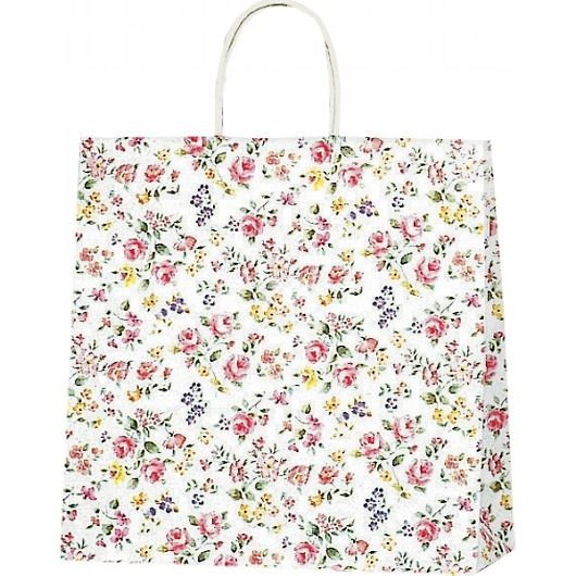 紙袋 ロマネスク(S) ペーパーバッグ 花柄 32×11.5×31cm #3256100 画像1