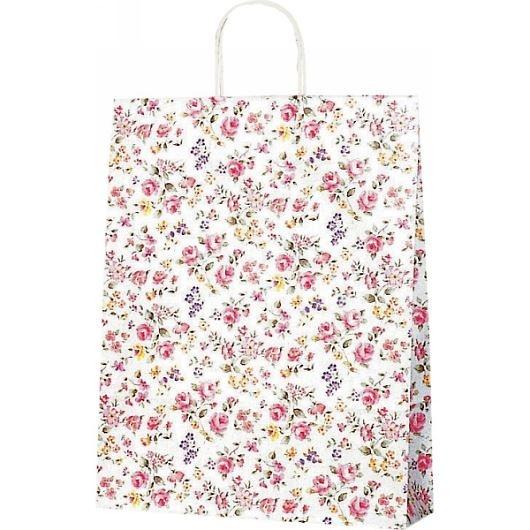 紙袋 ロマネスク(M) ペーパーバッグ 花柄 32×11.5×41cm #3220300 画像1