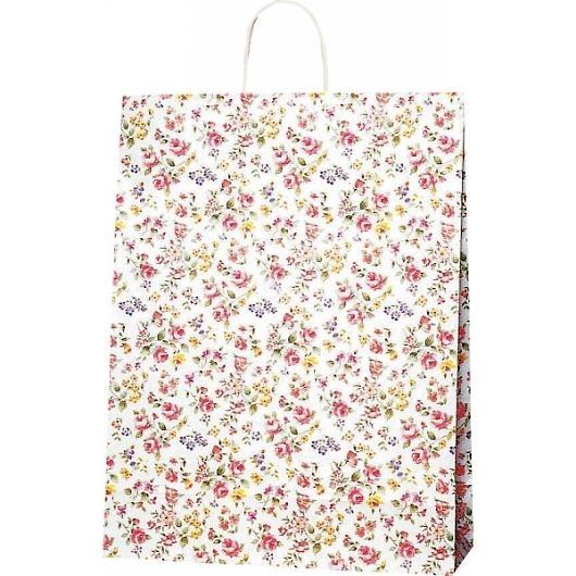 紙袋 ロマネスク(L) ペーパーバッグ 花柄 38×15×50cm #3282600 画像1