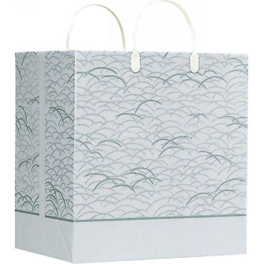 紙袋パールバッグ 草柄 (小) 34×26×37cm NO628 画像1