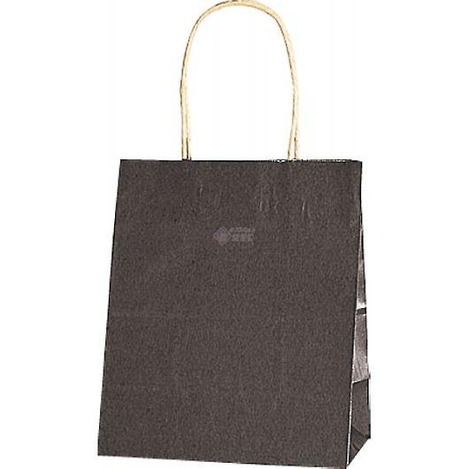 紙袋 カラーバッグ ペーパーバッグ 無地 (XS) 焦茶 21×12×25cm #3266303 画像1
