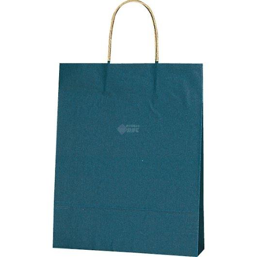紙袋 カラーバッグ ペーパーバッグ 無地 (SS) 紺 27×8×34cm #3276804 画像1