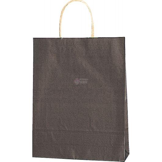 紙袋 カラーバッグ ペーパーバッグ 無地 (SS) 焦茶 27×8×34cm #3276806 画像1