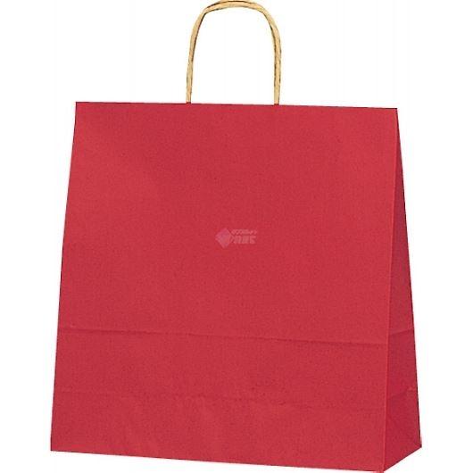 紙袋 カラーバッグ ペーパーバッグ 無地 (S) 赤 32×11.5×31cm #3251203 画像1