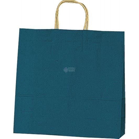 紙袋 カラーバッグ ペーパーバッグ 無地 (S) 紺 32×11.5×31cm #3251204 画像1