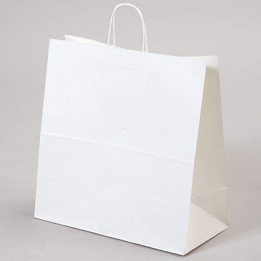 紙袋 丸紐 ペーパーバッグ 白無地バッグ(LL) 45×22×45.5cm #3297000 画像1