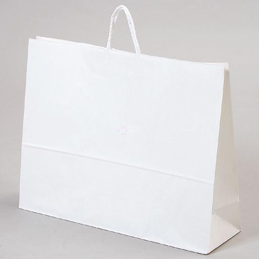 紙袋 丸紐 ペーパーバッグ 白無地バッグ(3L) 60×18×47cm #3299800(2015) 画像1