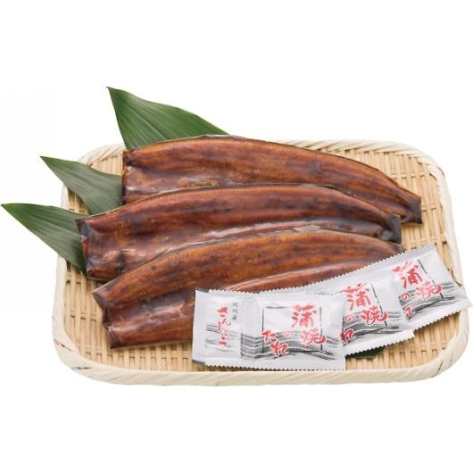 静岡県産 うなぎ蒲焼(長焼)3尾 画像1