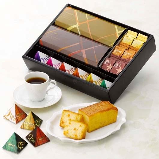 AROMAIQUE ブランデーケーキ&UCCコーヒー&紅茶セット アロマティーク 画像1
