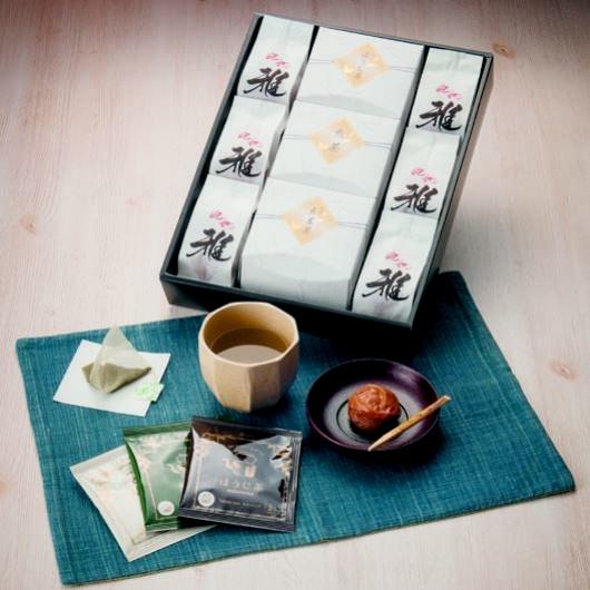 風雅 紀州完熟梅干&3種のお茶セット 画像1