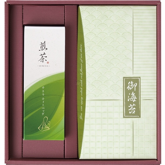 趣(おもむき) 煎茶&海苔 詰合せセット 画像1