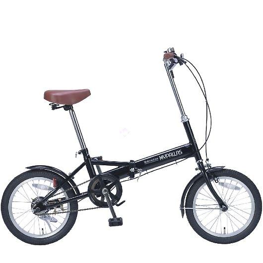 My Pallas マイパラス M-101-BK 16インチ 折り畳み自転車16インチ ブラック 画像1