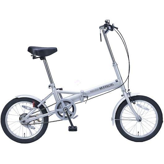 My Pallas マイパラス M-101-SL 16インチ 折り畳み自転車16インチ シルバー 画像1