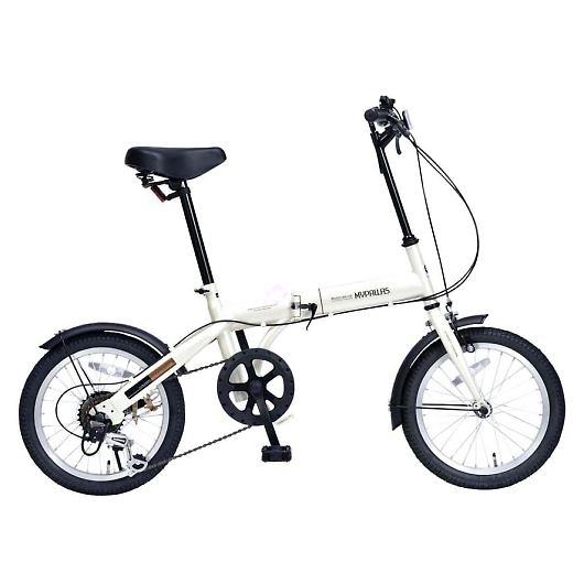 My Pallas マイパラス M-103-IV 16インチ 6段変速 折り畳み自転車16インチ アイボリー 画像1