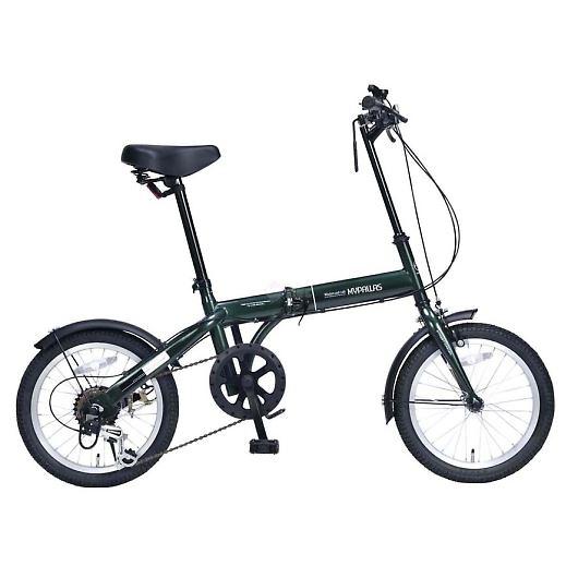 My Pallas マイパラス M-103-GR 16インチ 6段変速 折り畳み自転車16インチ グリーン 画像1