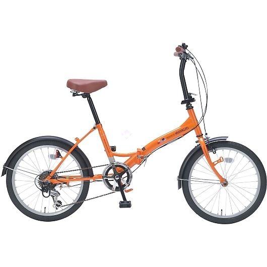 My Pallas マイパラス M-209-OR 20インチ 6段変速 折畳自転車 オレンジ 画像1
