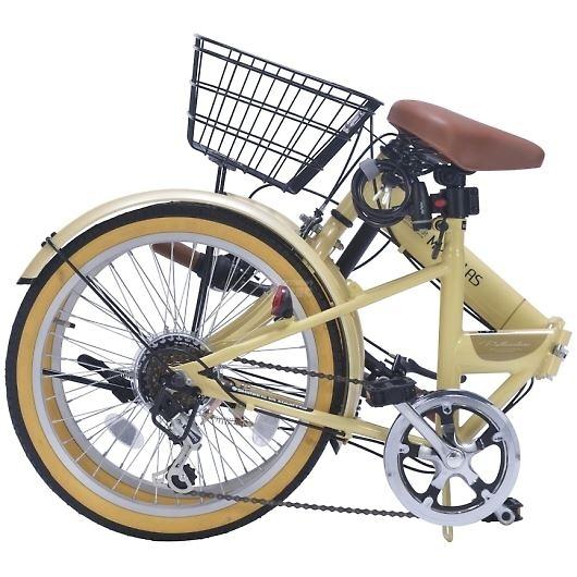 My Pallas マイパラス M-252-NA 20インチ 6段変速 折畳自転車 ナチュラル 画像2