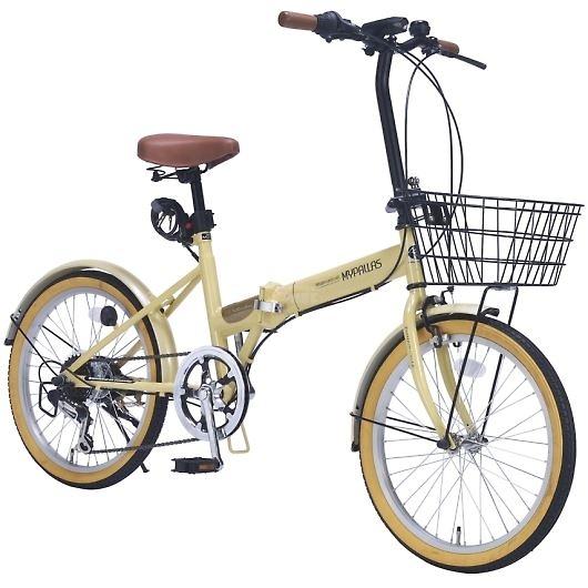 My Pallas マイパラス M-252-NA 20インチ 6段変速 折畳自転車 ナチュラル 画像3