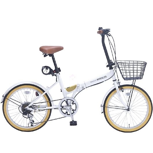 My Pallas マイパラス M-252-WH 20インチ 6段変速 折畳自転車 ホワイト 画像1