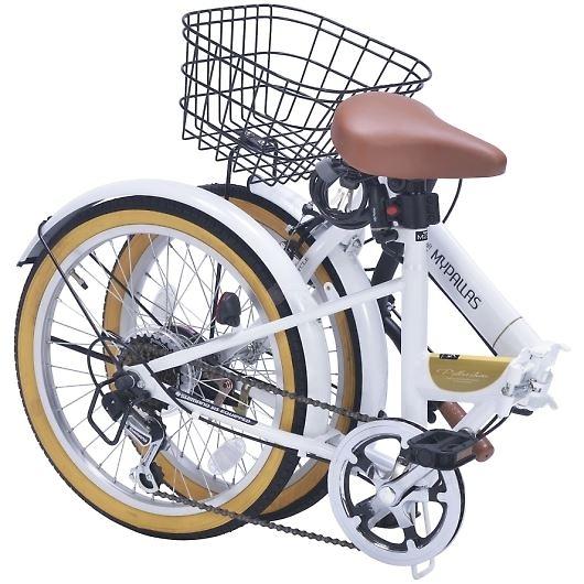 My Pallas マイパラス M-252-WH 20インチ 6段変速 折畳自転車 ホワイト 画像2