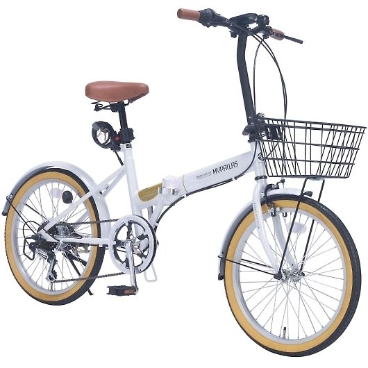 My Pallas マイパラス M-252-WH 20インチ 6段変速 折畳自転車 ホワイト 画像3