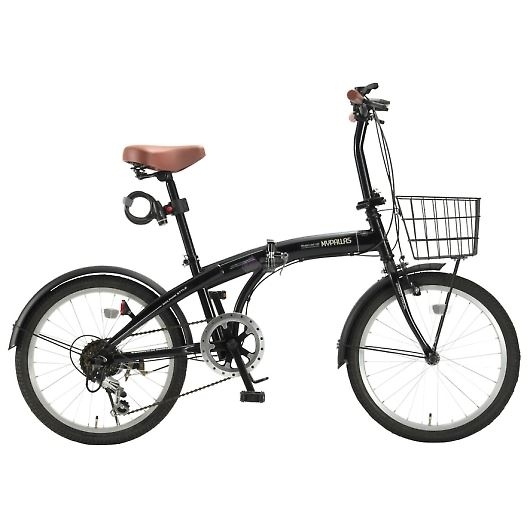 My Pallas マイパラス HCS-01-BK 20インチ 6段変速 折畳自転車 ブラック 画像1
