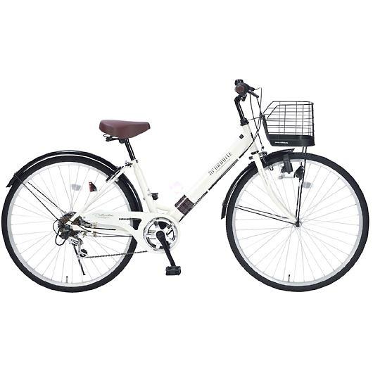 My Pallas マイパラス M-502-IV シティサイクル26インチ 6段変速自転車 肉厚チューブ アイボリー 画像1