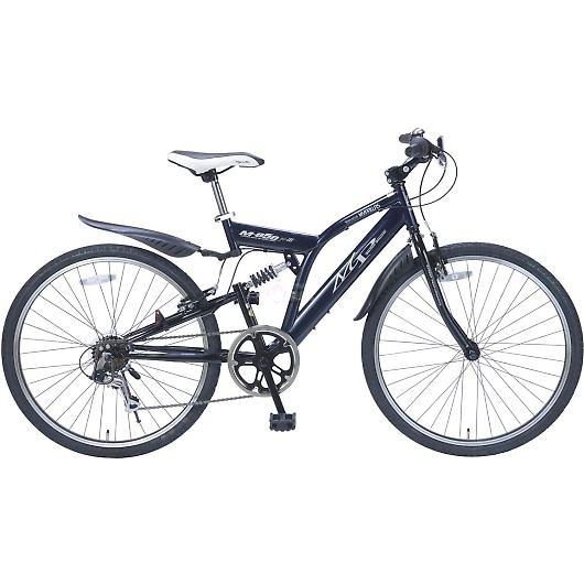 My Pallas マイパラス M-650-3-NV クロスバイク 26インチ 6段変速 リアサス付自転車 ネイビー 画像1