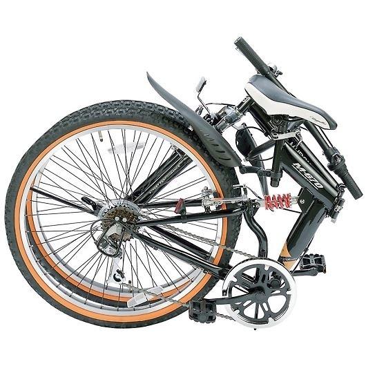 My Pallas マイパラス M-670-BK マウンテンバイク ATB 26インチ 6段変速 Wサス 折畳自転車 ブラック 画像2