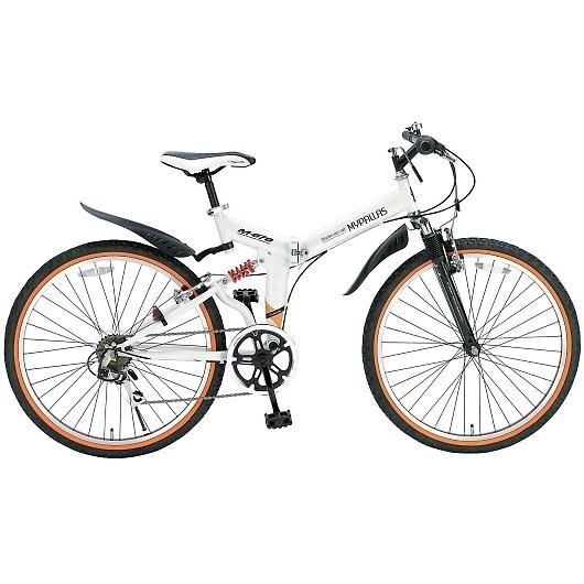 My Pallas マイパラス M-670-WH マウンテンバイク ATB 26インチ 6段変速 Wサス 折畳自転車 ホワイト 画像1