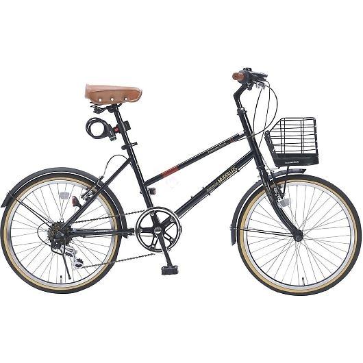 My Pallas マイパラス M-709-BK シティサイクル ミニベロ20インチ 6段変速 LEDライト 自転車 ブラック 画像1