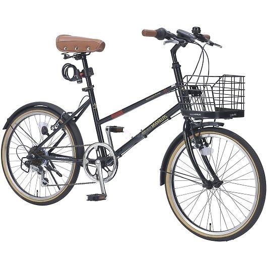 My Pallas マイパラス M-709-BK シティサイクル ミニベロ20インチ 6段変速 LEDライト 自転車 ブラック 画像2