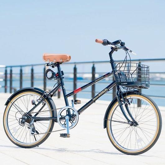 My Pallas マイパラス M-709-BK シティサイクル ミニベロ20インチ 6段変速 LEDライト 自転車 ブラック 画像3