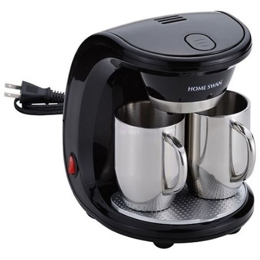 HOME SWAN ホームスワン コーヒーメーカー2カップ ステンレスマグカップ SCS-30 (SCS30) 画像1