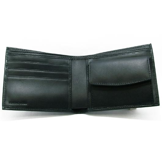 ハンティングワールド サファリ 二折財布 204-303/ブラック 画像2