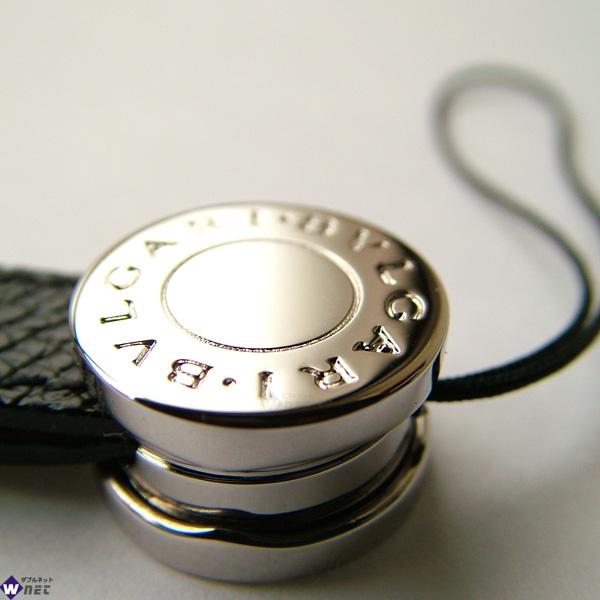 ブルガリ 携帯ストラップ 21699 ブラック×シルバー  画像3