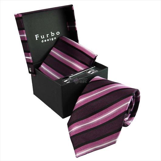 Furbo design フルボ ネクタイ&タイバー&カフス&チーフ 4点セット ピンク系 8001114COLOR5 733046 425 画像1
