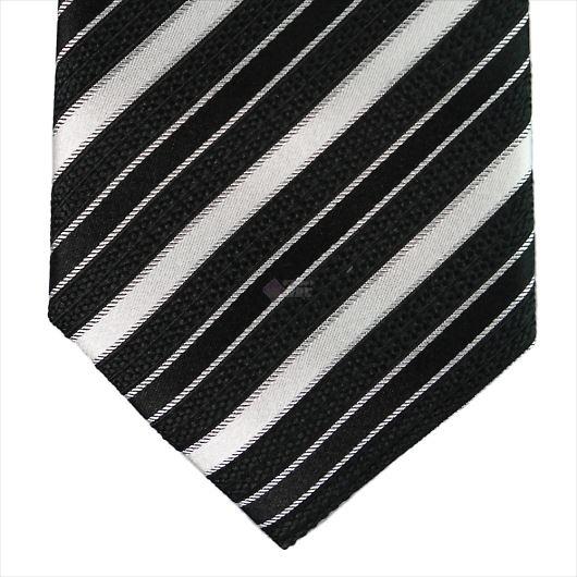 Furbo design フルボ ネクタイ&タイバー&カフス&チーフ 4点セット ブラック×ホワイト系 8435533COLOR1 733197 430 画像2