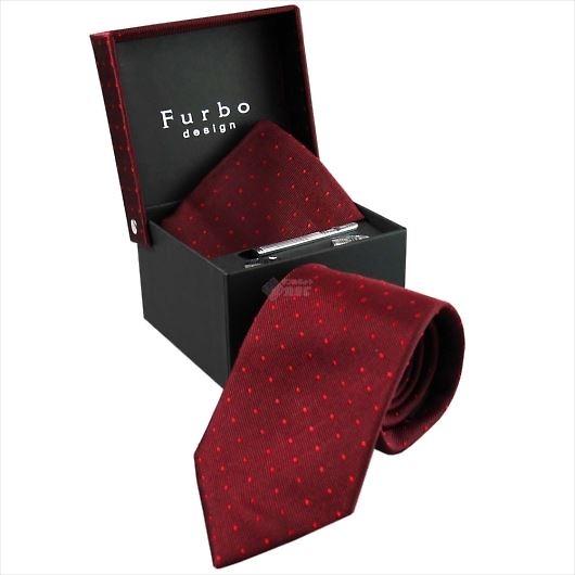 Furbo design フルボ ネクタイ&タイバー&カフス&チーフ 4点セット レッド系 8437903COLOR4 733859 434 画像1