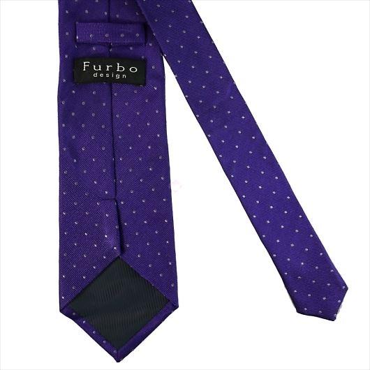 Furbo design フルボ ネクタイ&タイバー&カフス&チーフ 4点セット パープル系 8437903COLOR5 733860 435 画像3