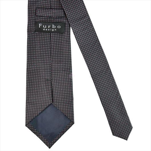 Furbo design フルボ ネクタイ&タイバー&カフス&チーフ 4点セット ブラック×ピンク系 8516022COLOR1 733867 436 画像3