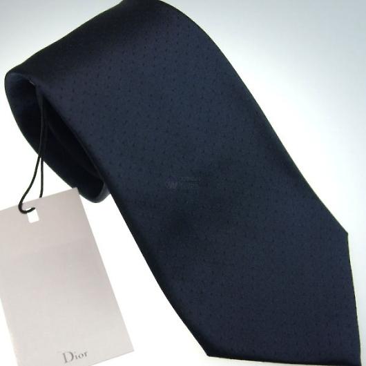 Dior ディオール シルク ネクタイ/ネイビー系 画像1