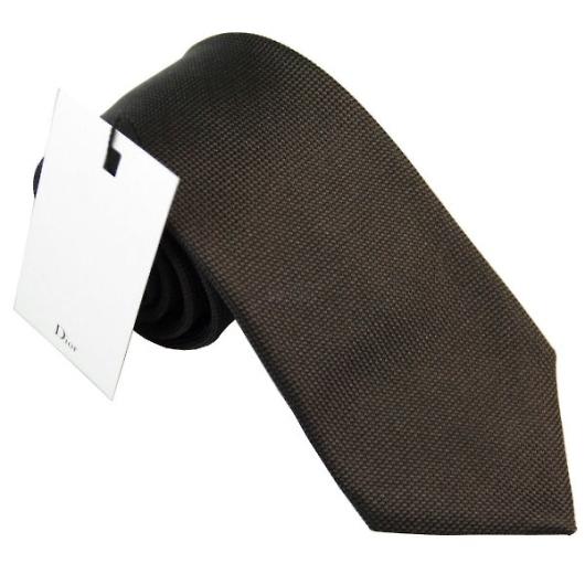 Dior ディオール シルク ネクタイ/ブラック系 画像1