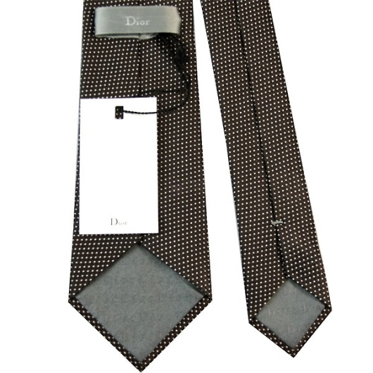 Dior ディオール シルク ネクタイ/ブラウン系 画像3