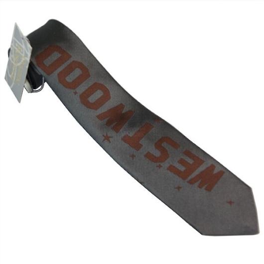 ヴィヴィアン ネクタイ 剣先7cm グレー×ブラウン系 F703COLOR5SLIM 画像1