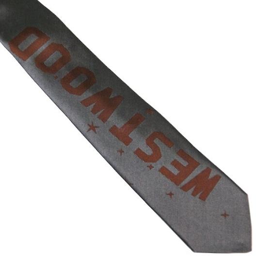 ヴィヴィアン ネクタイ 剣先7cm グレー×ブラウン系 F703COLOR5SLIM 画像2